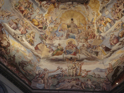 Last Judgement by Vasari in Duomo 2