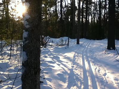 Back side of Ogemaw Hills Pathway, 12/30/2012.