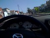 Riding in the miata through strawberry hill in kck, its a beautiful  <br /> morning.