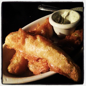 Hot, fried pickles with @jpomranka & @molliebax via Instagram http://instagram.com/p/fGfVWBGFIe/
