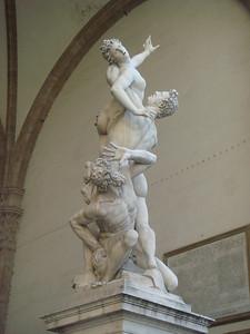 Sabina's abduction in Piazza della Signoria 2