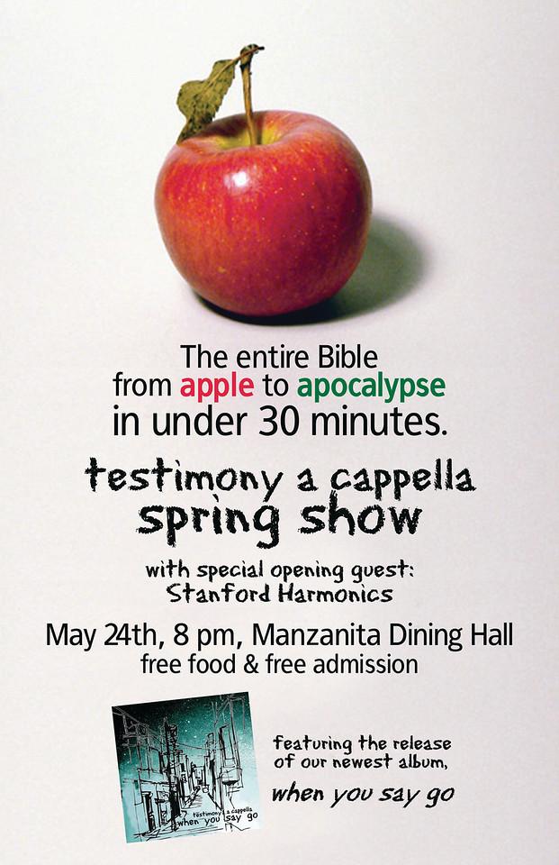 Stanfurd Tmony Spring Show 2008 flyer