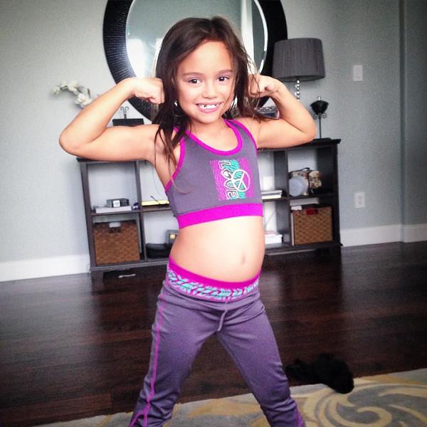 "She's proud of her new climbing outfit. via Instagram <a href=""http://ift.tt/2aiaOIK"">http://ift.tt/2aiaOIK</a>"