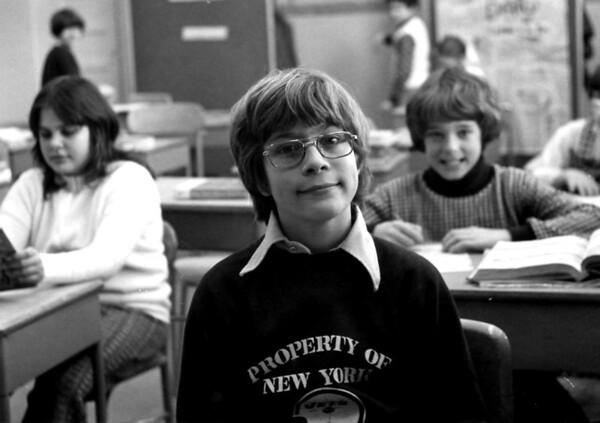 Greg Trivino in 5th grade, Mr. Thomas' homeroom. Karen Miller is left,Art Tyson is right