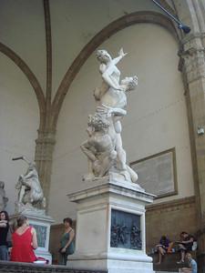 Sabina's abduction in Piazza della Signoria