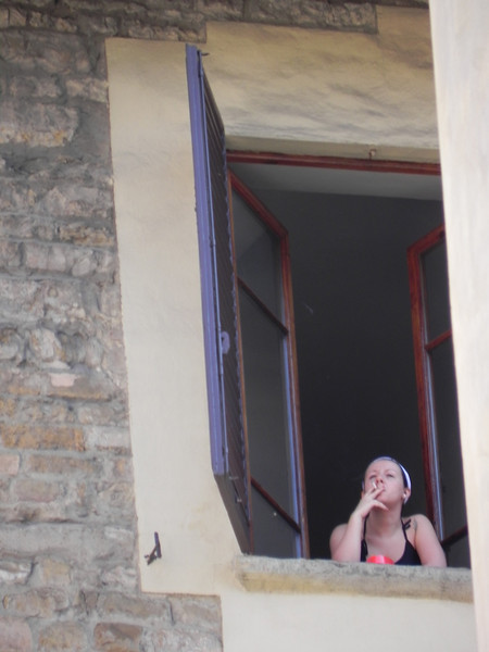 Girl in Window 1