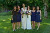 Brides with Emily's sisters.