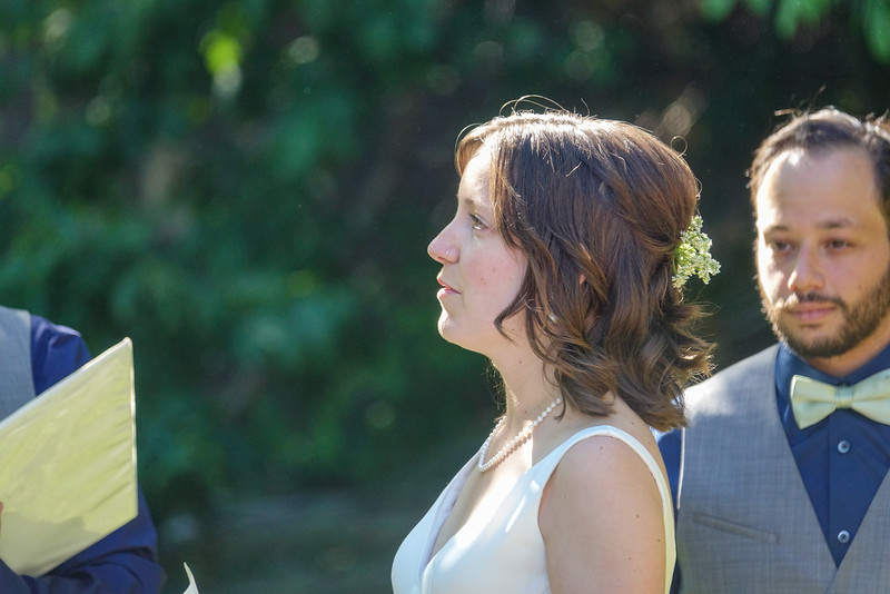 Emily says her vows.