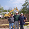 Opening Day!  L-R:  John Dill, Tom Marx and Mike Dill.
