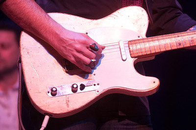 Jedd Hughes picking on his Telecaster at Chautauqua. Photo by Candace Horgan.