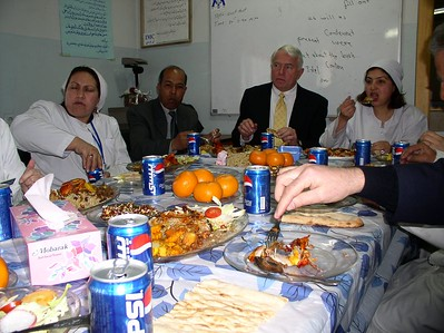 Here is our Afghan lunch with the attendings, Craig Hostetler from DHHS. There were many other important players there. The food was GREAT.