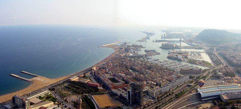 Vista espectacular de la ciudad de Barceloana