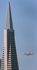 Endeavour flies by the TransAmerica Pyramid in San Francisco on Sept. 21, 2012.