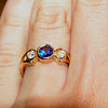 My beautiful new ring designed and made by Robert Laible of Robert's - The Fine Art of Jewelry in downtown Champaign, IL