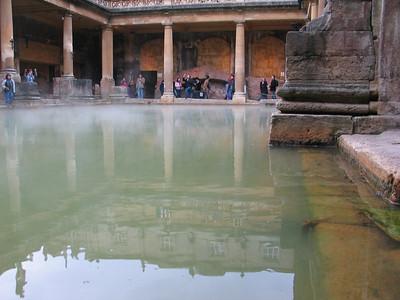 The Great Bath, the Roman Baths in Bath, England