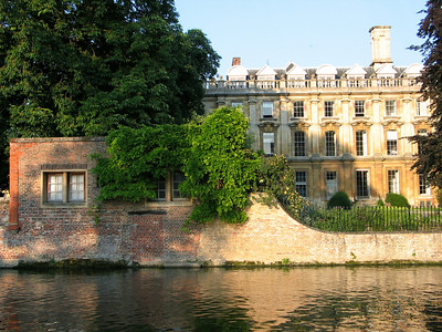 Clare College of the University of Cambridge from the River Cam