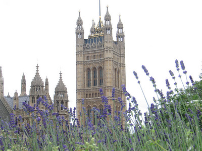 Victoria Tower of the Palace of Westminster (Houses of Parliament in London)