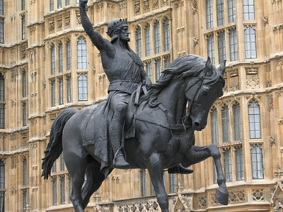 Statue of Richard I (the Lionheart) by Carlo Marochetti at Westminster Palace