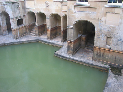 The Great Bath, the Roman Baths, Bath, England