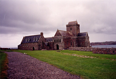 Iona Abbey, Scotland. The kings of Scotland are buried here.