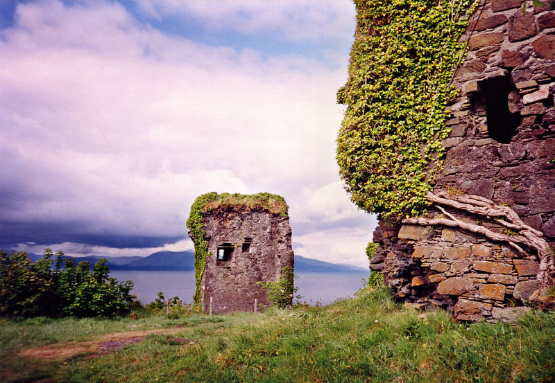 The crumbling ruins of Dunollie Castle.