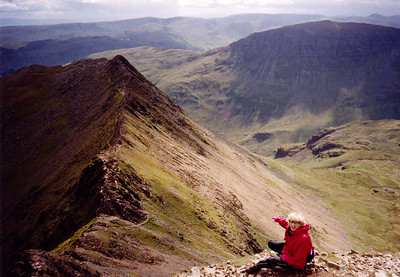 Lizzie on Hellvellyn.