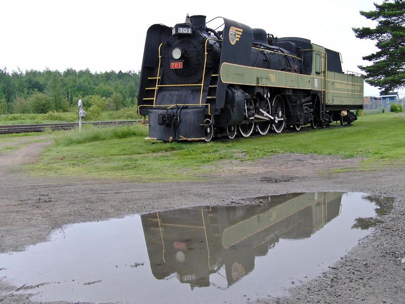Steam locomotive on display near Englehart ONR station