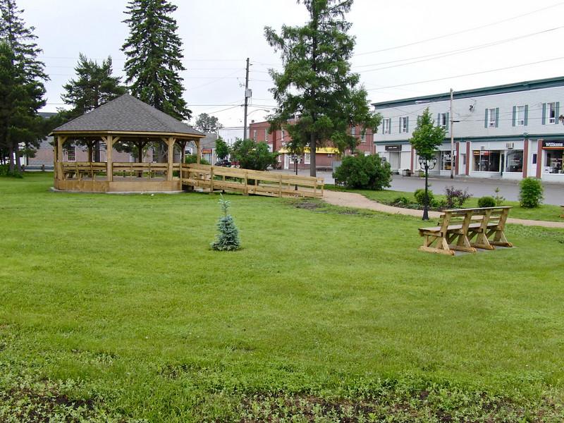 Bandstand in park in Englehart, Ontario