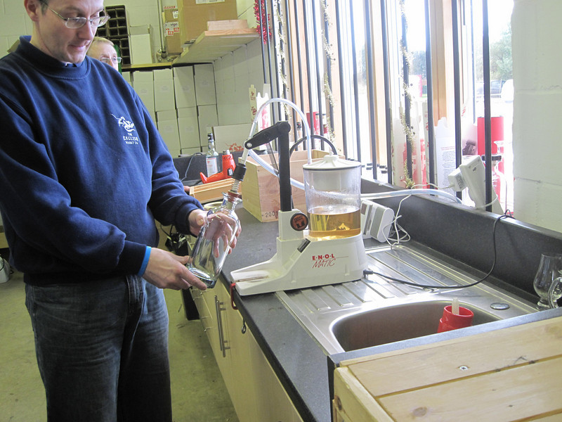 master brewer demonstrating