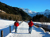 Walking from Kuspos to the Wildstrubel Mountains in Lenk, Switzerland in Winter