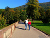 Couple Walking on the Palace Grounds of the Heidelberg Castle