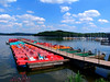 Boat Docks at the Botsalsee in Germany