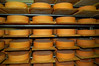 Cheese Wheels in Lenk Mountain Cheese Factory