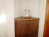 Walnut entry hutch