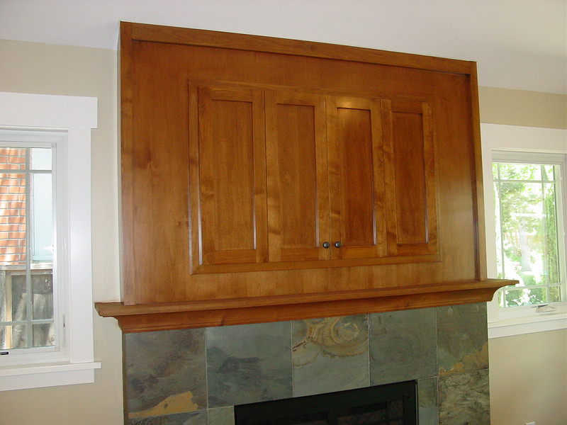 Alder cabinet to hide flat screen TV