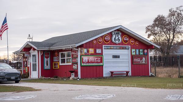 Vintage Coca-Cola shop on Route 667 in Gardner, Illinois