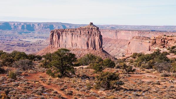 Beautiful butte near Upheaval Dome at Canyonlands National Park, Utah, USA