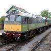 Class 25 D7523 (25173) John F Kennedy minus nameplates awaits departure to Ongar   19/05/13.