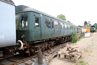 Ex North London Line DMU M51342_M50384 in Ongar Station Yard   19/05/13.