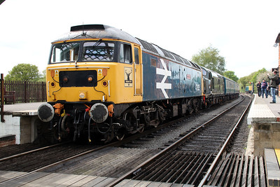 47635 'Jimmy Milne' & D6729 (37029) D/H 1400/2C10 North Weald-Ongar  26/04/14.