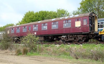 Mark 1 coach 3132 (99191) in North Weald Sidings   19/05/13