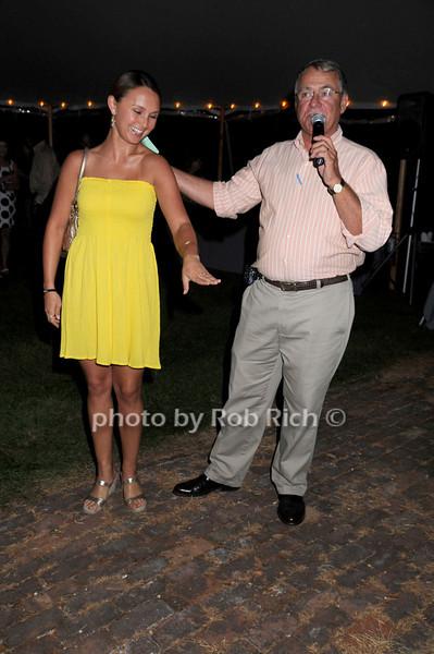 Georgina Bloomberg, Steve Sarafin<br /> photo by Rob Rich © 2008 516-676-3939 robwayne1@aol.com