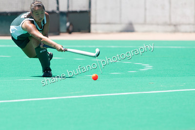 Camille Ertel of Team Vermont (Woodstock) passes the ball up the field during the 2012 Twin State Field Hockey game at the University of Vermont on Saturday, June 30, 2012.