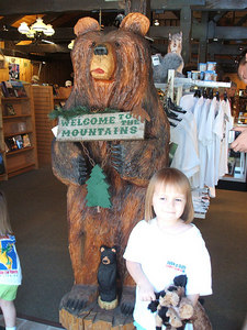 Pictures in Idyllwild.  Of course Mia had to add to her animal collection and buy a hound dog and a small horse in one of the shops.