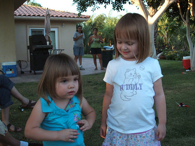 Mia Pierce with her little cousin, Payton Mary.