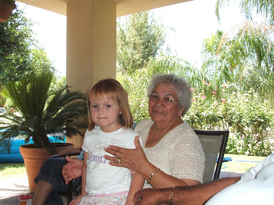 Mia with her Great Grandma Mona Esquivel