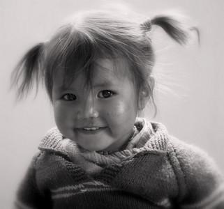 Petite fille aux couettes-Zangla 2009