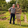 "Mario and our nephew, Giovanni, who will be 27 this month- in front of Cicci's ""Orto"" or vegetable garden! In Mariano."