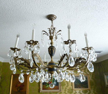 Dining room chandelier.  This may be for sale and we will know tomorrow.