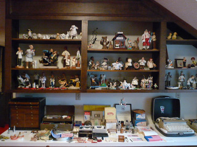 Dentist collectible figurines, implements, chest and more!